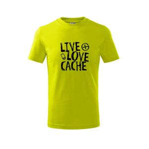 Live love cache - Triko dětské basic