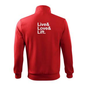Live, love, lift - Mikina bez kapuce Adventure
