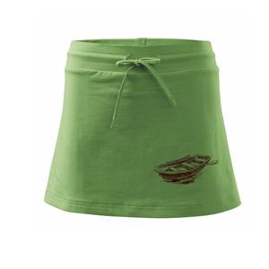 Loďka bez rybáře - Sportovní sukně - two in one