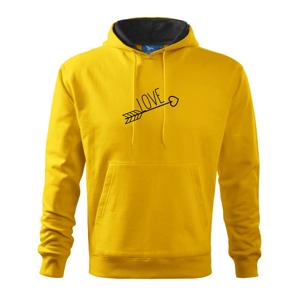 Love šíp - Mikina s kapucí hooded sweater