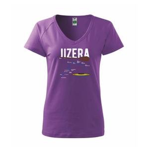 Mapa řeky Jizery - Tričko dámské Dream