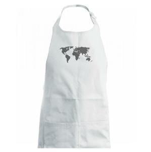 Mapa světa otisk - Dětská zástěra na vaření