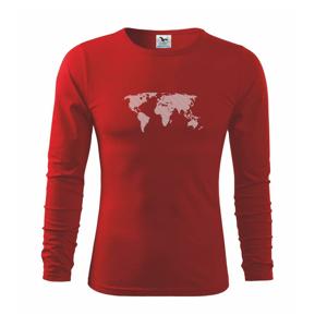 Mapa světa otisk - Triko dětské Long Sleeve