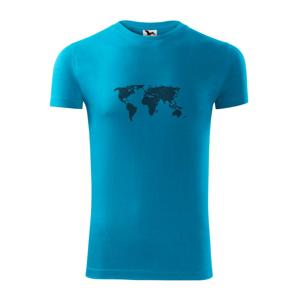 Mapa světa otisk - Viper FIT pánské triko