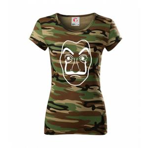 Maska do tiskárny peněz - Dámské maskáčové triko
