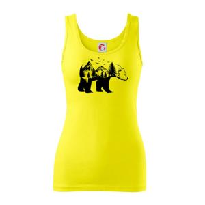 Medvěd ilustrace - Tílko triumph