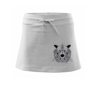 Medvěd v trojúhelníku - Sportovní sukně - two in one