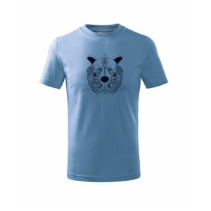 Medvěd v trojúhelníku - Triko dětské basic