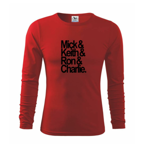 Mick Keith Ron Charlie - Triko s dlouhým rukávem FIT-T long sleeve