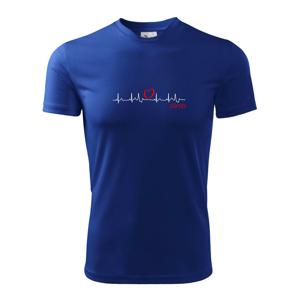 Moje srdce bije pro climb (horolezení) - Dětské triko Fantasy sportovní (dresovina)