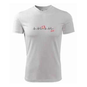 Moje srdce bije pro golf - Pánské triko Fantasy sportovní (dresovina)