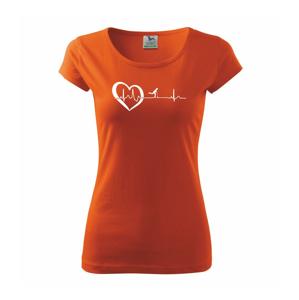 Moje srdce bije pro koloběžky - Pure dámské triko