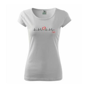 Moje srdce bije pro run - Pure dámské triko