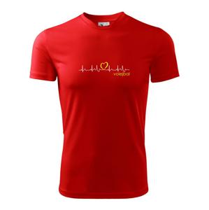 Moje srdce bije pro Volejbal - Dětské triko Fantasy sportovní (dresovina)