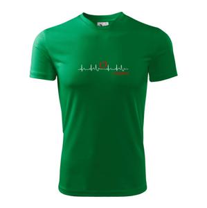 Moje srdce bije pro Volejbal - Pánské triko Fantasy sportovní (dresovina)