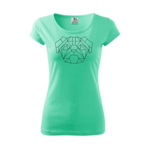 Mops - Geometrie - jednoduchý - Pure dámské triko