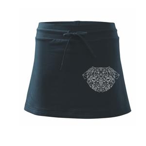 Mops - Geometrie - složitý - Sportovní sukně - two in one
