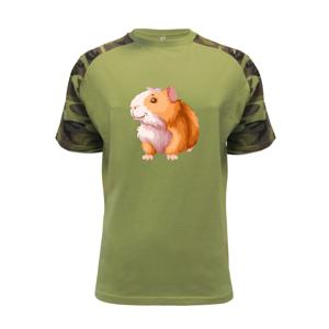 Morče - kreslené, bílo oranžové - Raglan Military