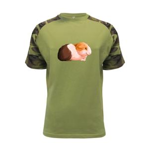 Morče - kreslené z boku - Raglan Military