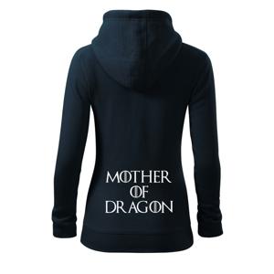 Mother of Dragon - Dámská mikina trendy zippeer s kapucí