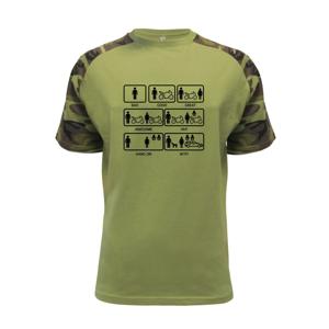 Moto holka rodina - Raglan Military