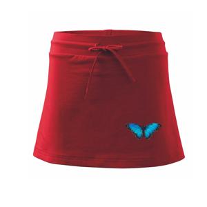 Motyl babočka Morpho Peleides - Sportovní sukně - two in one