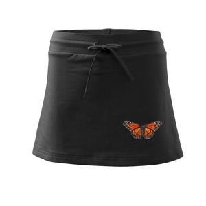 Motýl Monarcha stěhovavý - Sportovní sukně - two in one