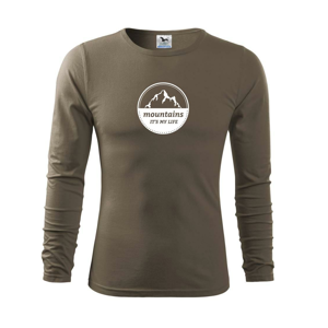 Mountains it's my life - Triko s dlouhým rukávem FIT-T long sleeve
