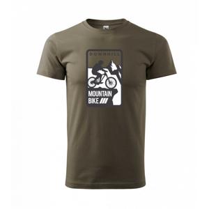 MTB downhill logo prsa - Triko Basic Extra velké