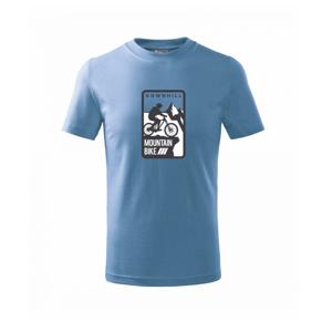 MTB downhill logo prsa - Triko dětské basic