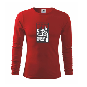 MTB downhill logo prsa - Triko s dlouhým rukávem FIT-T long sleeve