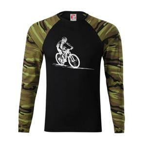 MTB kreslený cyklista - Camouflage LS