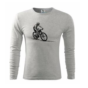 MTB kreslený cyklista - Triko s dlouhým rukávem FIT-T long sleeve