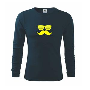 Mustache brýle - Triko s dlouhým rukávem FIT-T long sleeve