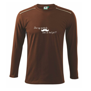 Mustache-does my mustache make me look fat? - Triko s dlouhým rukávem Long Sleeve