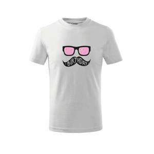 Mustache narozeniny - brýle - Triko dětské basic