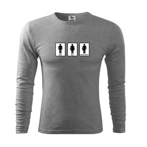 Muži, ženy, nevím to určitě  (Hana-creative) - Triko s dlouhým rukávem FIT-T long sleeve