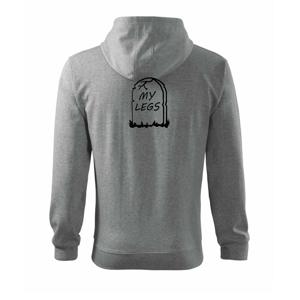 Náhrobek - My legs - Mikina s kapucí na zip trendy zipper