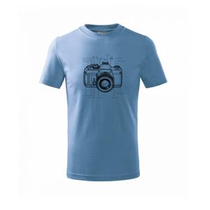 Nákres starý fotoaparát - Triko dětské basic