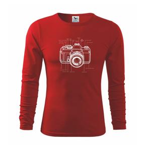 Nákres starý fotoaparát - Triko dětské Long Sleeve