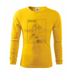 Nákres video game console s joystickem - Triko s dlouhým rukávem FIT-T long sleeve