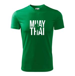 Nápis Muay Thai - Dětské triko Fantasy sportovní (dresovina)