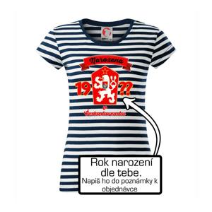 Narozen v Československu - barevné - vlastní ročník - Sailor dámské triko