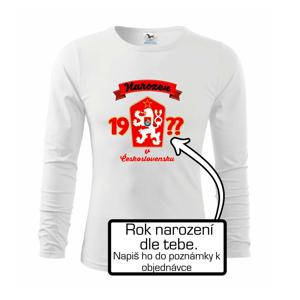 Narozen v Československu - barevné - vlastní ročník - Triko s dlouhým rukávem FIT-T long sleeve
