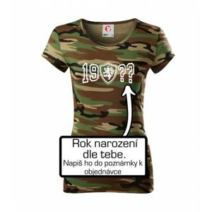 Narozeninový motiv - znak - vlastní rok narození - Dámské maskáčové triko