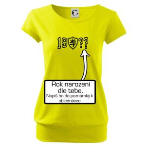 Narozeninový motiv - znak - vlastní rok narození - Volné triko city