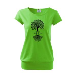 Narozeninový strom 40 - Volné triko city