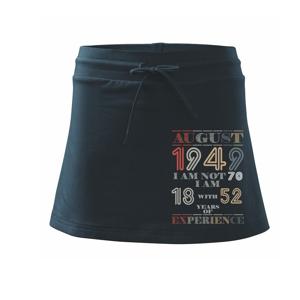 Narozeniny experience 1949 august - Sportovní sukně - two in one