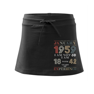 Narozeniny experience 1959 january - Sportovní sukně - two in one