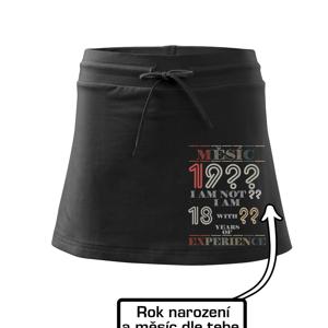 Narozeniny experience - vlastní ročník - Sportovní sukně - two in one